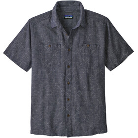 Patagonia Back Step t-shirt Heren, goshawk dobby/neo navy
